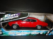 Greenlight Chevrolet Chevelle SS Fast and Furious Red 1970 1/18