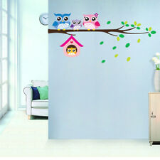 Owl Birds Branch Mural Wall Stickers Decal Removable Kids Baby Room Decor