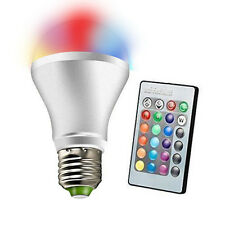 10W E27 RGB Color Changing Party LED Globe Light Bulb + IR Remote Controller