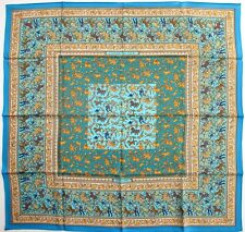 Hermes Turquoise  2002 CHASSE EN INDE Twill 90 carre tusch foulard scarf Duchene