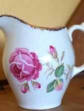 Vintage Royal Swan Creamer 333 Cream w/ Rose Design 22kt Gold Decoration