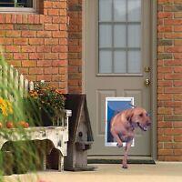 Extra Large Dog Door Frame Aluminum Pet Cat Door With Telescoping Frame White