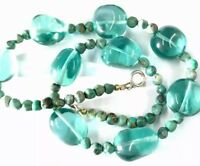 Vintage Turquoise Bead 16.5 Inch Long Necklace GIFT BOXED