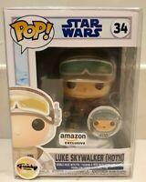 Funko Pop! Vinyl Luke Skywalker Hoth #34 Star Wars Amazon Exclusive With Pin