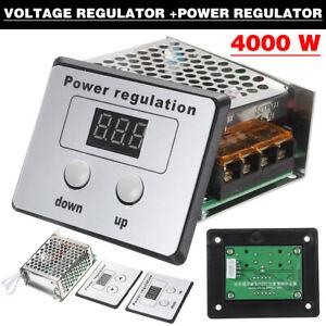 4000W 220V AC SCR Voltage Regulator Dimmer Electric Motor Speed Controller^uk