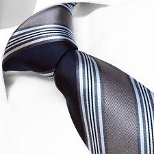 CRAVATE Luxe de Marque Française en SOIE Gris Rayée - French Brand Silk Tie Gray
