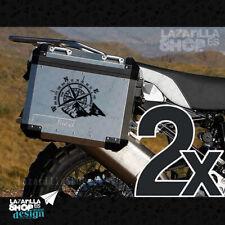 2x Pegatina ROSA DE LOS VIENTOS BRUJULA Vinilo maletas moto trail BMW YAMAHA KTM