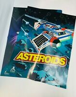 Atari Asteroids Poster & Lunar Lander Vintage Reproductions 2012 18 by 42 inches