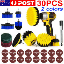 30PC Drill Brush Tub Clean Electric Grout Power Scrubber Cleaning Combo Tool Kit