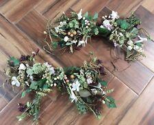"""(2) Grapevine Floral Ivy Fruit Swag Floral Arrangement ~ 21"""""""