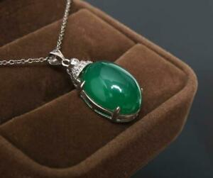 Good Chinese Carved Natural Jadeite Jade Necklace