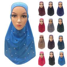 Muslim Women Hijab Long Scarf Islamic Headscarf Cover Shawls Wrap Crystal Hemp