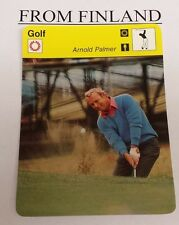 ARNOLD PALMER 1978 FINNISH Sportscaster card  - From Finland