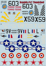 """""""Republic p-47 LE CANARDEUR, PART 2"""" print scale 72-028, Décalques 1/72"""