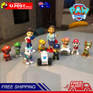 Paw Patrol Mini Action Figurines Toy Theme Party Cake Topper Kids Gift 12Pcs/Set