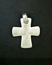 Sterling Silver Miniature Round Cross Pendant 925