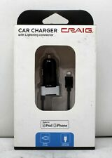 Craig Car Charger with Lightning connector