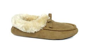 New Women's Moccasin Slipper Luxury House Shoe Faux Fur Oxford Loafer -3018L