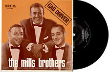 """THE MILLS BROTHERS - CAB DRIVER - EP 7"""" 45 VINYL RECORD PIC SLV"""