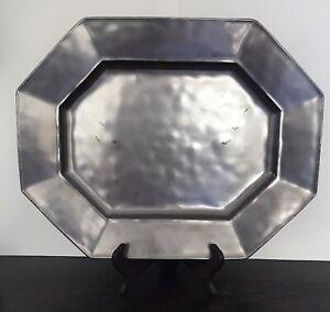 """Juliska Pewter 15.5"""" Octagon Platter Mint Condition 8 Sided"""