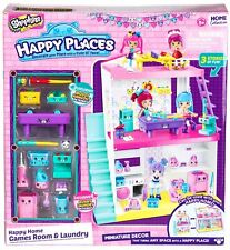 Shopkins Happy Places Happy Homes GAMES ROOM and LAUNDRY Playset