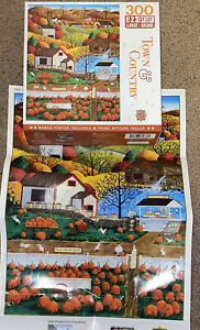 MASTERPIECES TOWN & COUNTRY PUZZLE AUTUMN MORNING ART POULIN 300 Piece Jigsaw