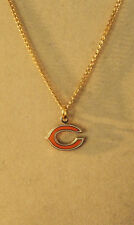 "CHICAGO BEARS LOGO NECKLACE 20"" Gold Tone USA NFL Football  Bears Team Jewelry"