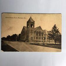 Central Christian Church Huntington Indiana Posted 1909 Postcard