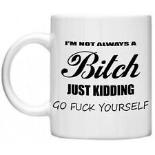 Rude Crude Gifts, I'm Not Always A Bitch...Insulting Swearing Novelty Mug Gift