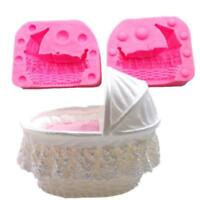 3D Baby Bed Silicone Baking Tool Sugarcraft Chocolate Fondant Mold Cake Mould MP