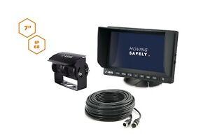 "LUIS 7""-Twin-System Professional Caravan Rückfahrkamera-System schwarze Kamera"