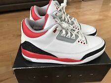 AIR JORDAN III 3 RETRO 2006 NEW SIZE 11 WHITE FIRE RED CEMENT GREY 136064 161