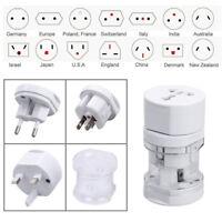 Universal World Travel Adapter Plug AC Power + Surge Protector US/UK/AU/EU Multi