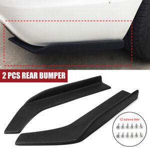 For 2014-2019 Infiniti Q50 Q60 Q70 Pair Rear Bumper Side Corner Splitters