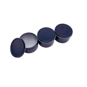DIY Candle Jars  with Lid Bulk Round Candle Container Tins Empty Storage  SC