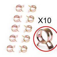 10pcs/Set 3/8 Spring Clips Car Silicone Fuel Vacuum Hose Line Clamps Accessory