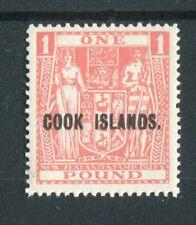 Cook Islands KGVI 1943-54 £1 pink  SG134 MNH