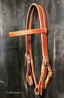 Western / English MEDIUM OIL Headstall / Bridle QUICK CHANGE Bit Ends HORSE SIZE
