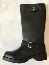 Divided Ladies Black Boots With Double Buckle Eu 40