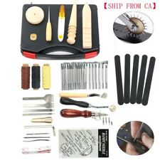 Leather Craft Hand Tools Kit Stitching Sewing Stamping Set 59Pc Saddle Making CA