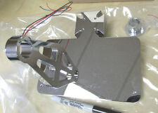 MATESE CROSS LICENSE FRAME + LED TAIL LIGHT - SIDE AXLE MOUNT  HARLEY OR PROJECT