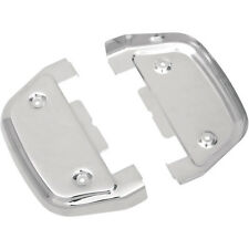 NEW Drag Specialties Chrome Passenger Floorboard Covers HARLEY FREE SHIP