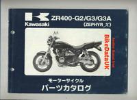 Kawasaki ZR 400 Zephyr X (97-98) Genuine Parts List Catalog Manual Book JAP CN58