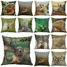Dog Decor Printing Cotton case cat Animal Pillows Home Rabbit deer Linen Cover