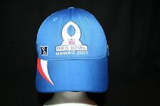 Reebok NFL Pro Bowl Hawaii 2011 Blue w/Red White Mesh Onfield Equip Cap Hat L/XL