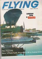 MARCH 1967 FLYING vintage airplane aviation magazine ALASKA , Piper Plane Ad