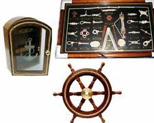 3er Set Key Box Anchor/Steering Wheel Cordage / Nodes Table -knoten - English