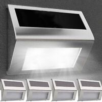 4X SUPER BRIGHT SOLAR POWERED DOOR FENCE WALL LIGHTS LED OUTDOOR GARDEN LIGHTING