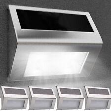 SUPER BRIGHT SOLAR POWERED DOOR FENCE WALL LIGHTS LED OUTDOOR GARDEN LIGHTING