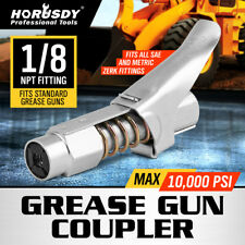 """Grease Gun Coupler Quick Release One Hand 1/8"""" NPT Fitting 10000psi New 14512"""
